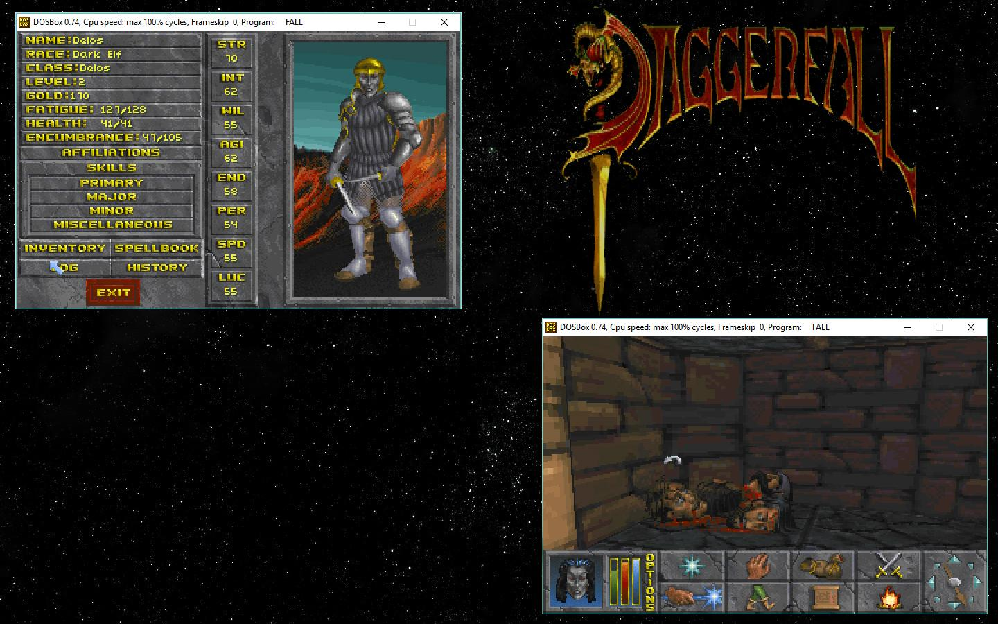 My Daggerfall gameplay screenshots