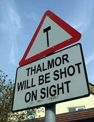 Thalmor warning.