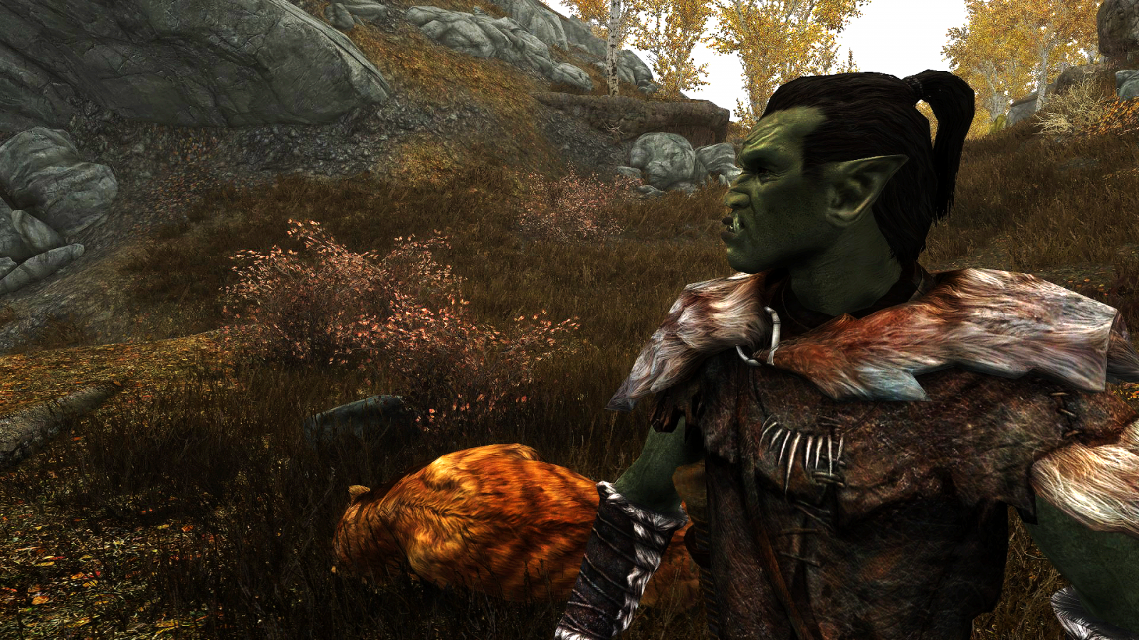 I asked the Orc what he was doing out there