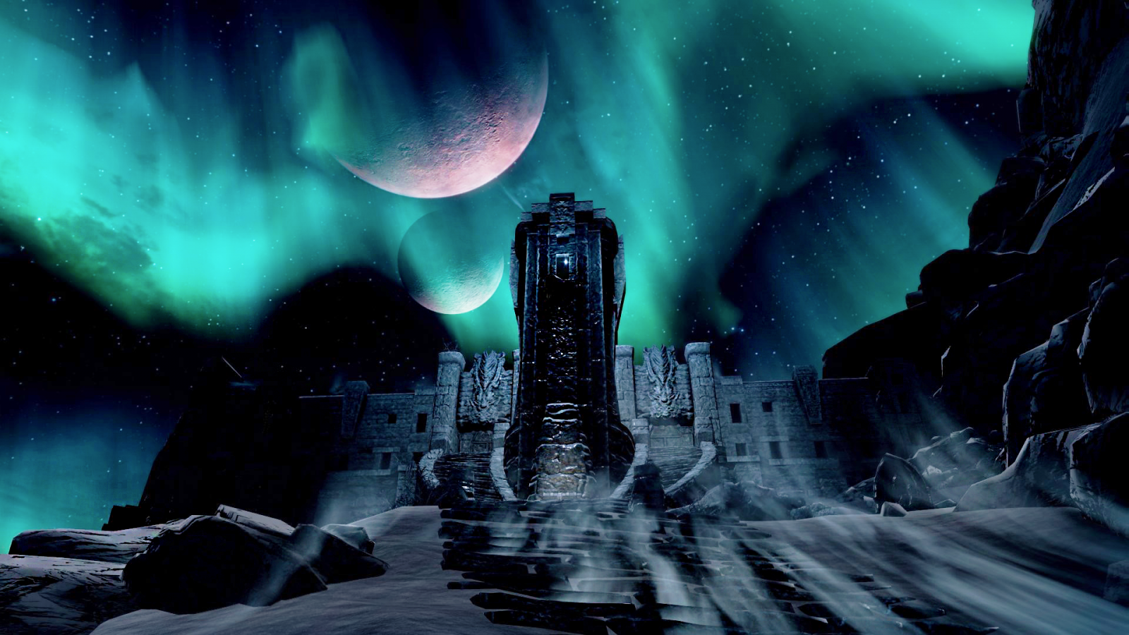 Secunda and Masser over High Hrothgar.