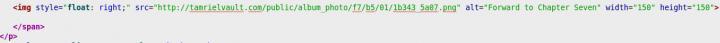 Forward image link code